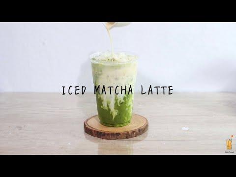 The best Matcha :: Iced Matcha Latte :: มัทฉะลาเต้เย็น | 홈 카페 Home cafe