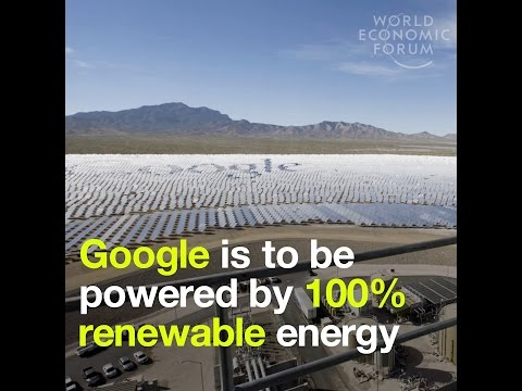 Google is to be powered by 100% renewable energy