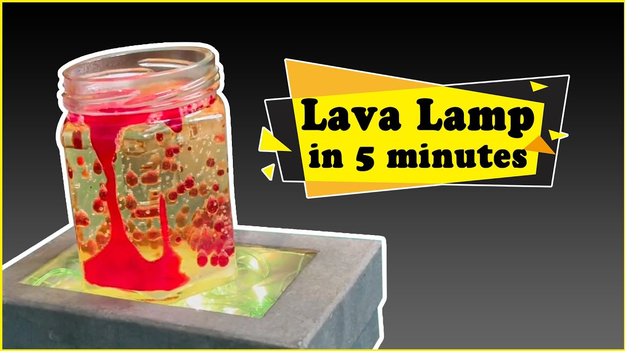How to make Lava Lamp at Home in Just 5 minutes | Easy Science Experiments for Kids | Lava Lamp DIY