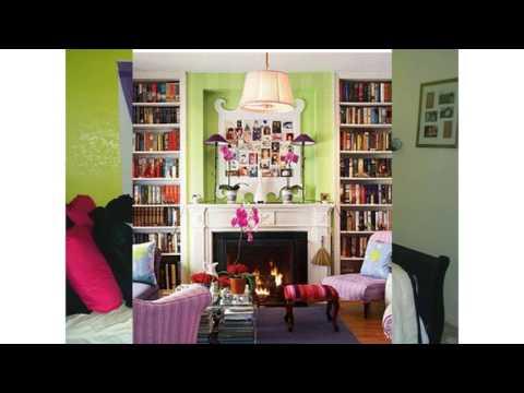 Lila und grüne schlafzimmer ideen