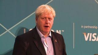 London mayor Johnson promises golden legacy for Olympics