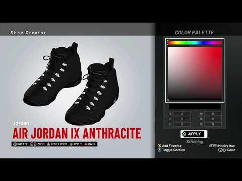 NBA 2K19 Shoe Creator - Air Jordan 5 PE