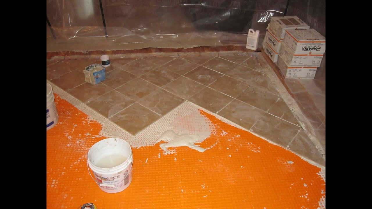 Bathroom Floor Underlayment : How to install schluter ditra on plywood