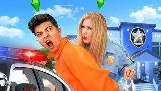 I ARRESTED PRESTONPLAYZ for MURDERING MY SIM! (Sims 4 Murder Mystery)