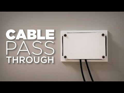 D.I.Y. Cable Pass Through