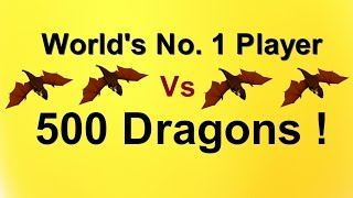 World's No 1 Player Vs 500 Dragons-Prank Attack- Clash Of Clans