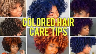 9 YRS COLOR TREATED! | Tips for Colored Natural Curly Hair Care  (Dryness, Protein, Dye, Breakage)