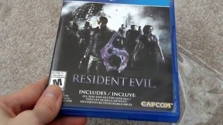 Unboxing Resident Evil 6 RE6 HD Remastered Capcom Sony Playstation 4 PS4