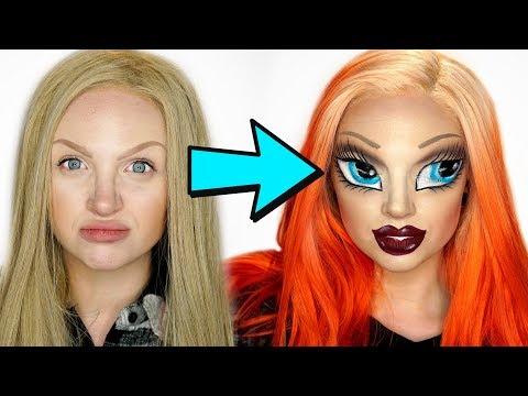 Bratz Doll Makeup Challenge (With an SFX Twist馃拃)