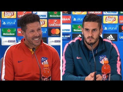 Diego Simeone & Koke Full Pre-Match Press Conference - Atletico Madrid v Chelsea - Champions League