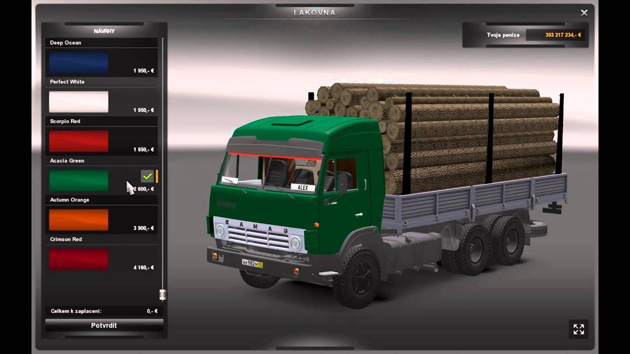 Euro Truck Simulator моды Камаз