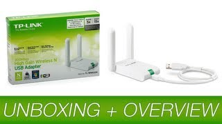 tp link tl wn822n 300mbps high gain wireless usb adapter unboxing overview