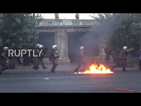 Greece: Chaos hits Athens amid demo law protest