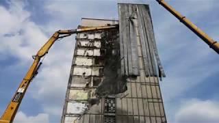 Wyburzanie hotelu Silesia w Katowicach