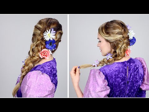 Rapunzel Inspired Braid No Extensions Youtube