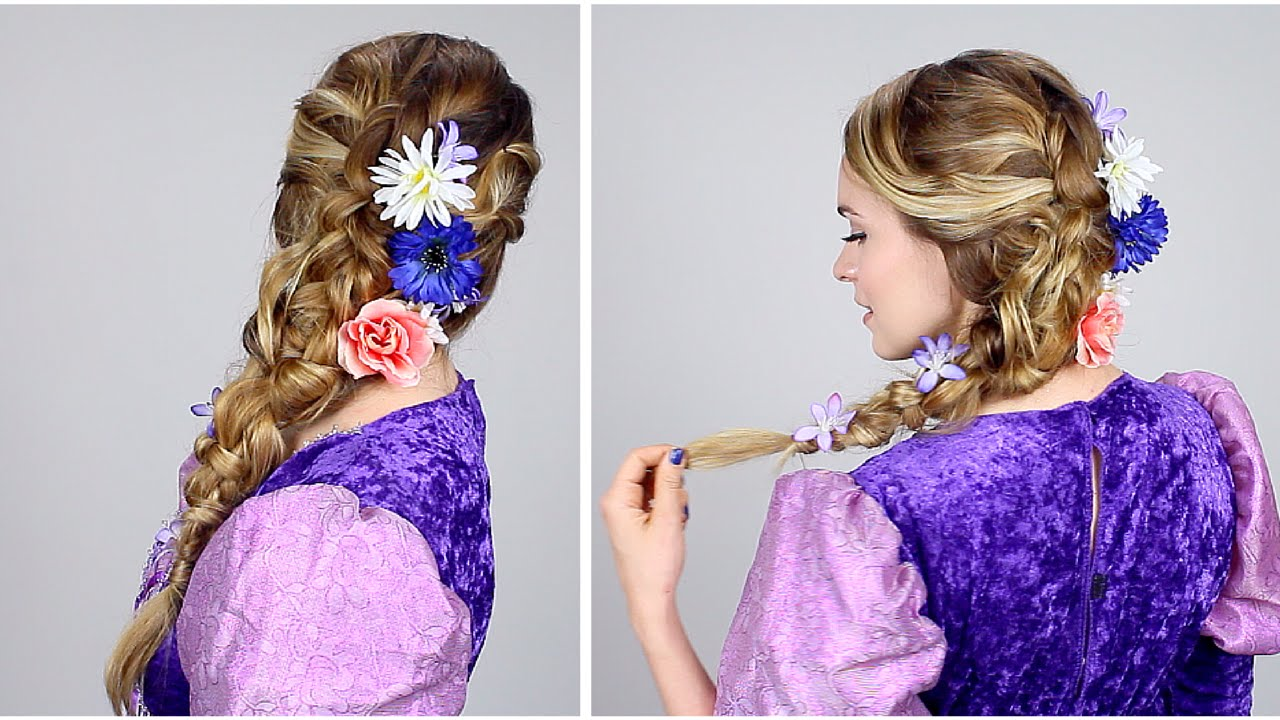 tangled hair style rapunzel inspired braid no extensions 8707