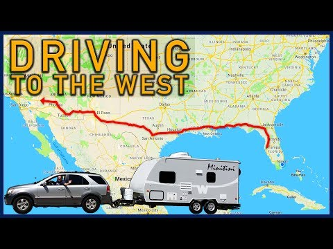 Driving to the West, an RV lifestyle vlog (Florida to Texas)