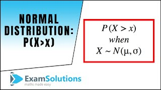 Normal Distribution : P(more than x) where x is less than the mean