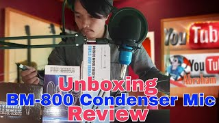 Techtest BM-800 Condenser Microphone Unboxing and Setup| Mic Test Full Review Unboxing, Abraham Goi