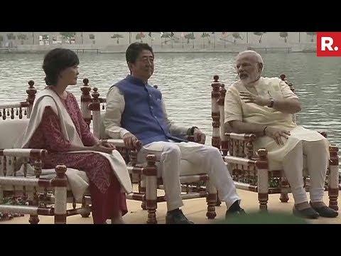 Japan PM Shinzo Abe And PM Modi At Sabarmati Ashram