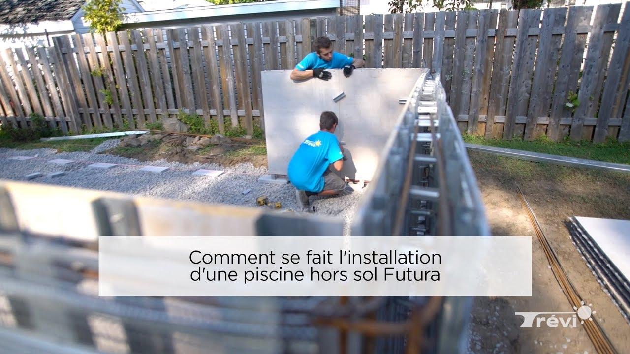 Piscine En Pierre Hors Sol comment se fait l'installation d'une piscine hors sol futura