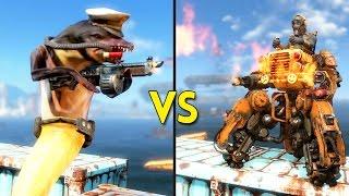 Fallout 4 - 150 DOLPHINIANS vs 20 RAIDER TANKS - Battles #70
