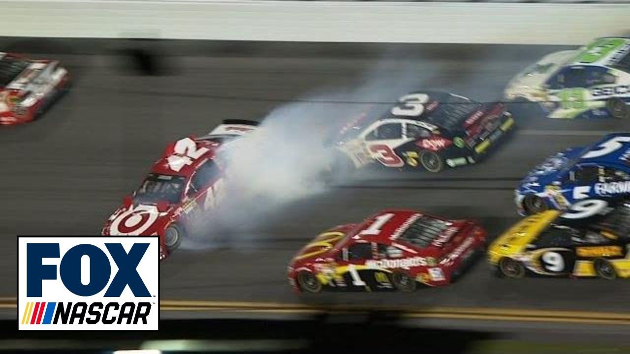 Kyle Larson Wrecked By Austin Dillon 2014 Daytona 500 Youtube