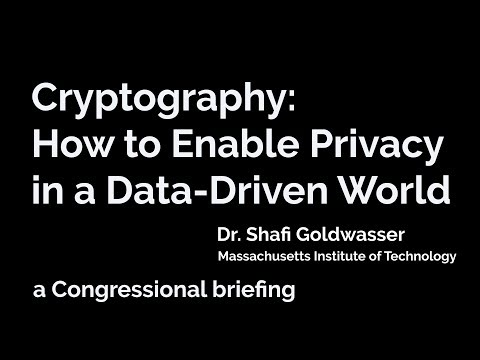 Cryptography: How to Enable Privacy in a Data-Driven World