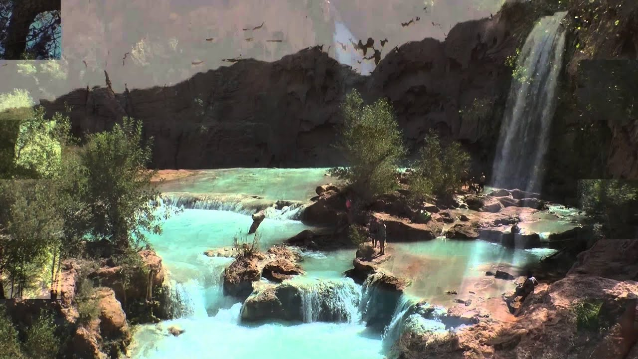 Havasu Falls Wallpaper Hike To Supai Village And Havasu Falls Grand Canyon Youtube