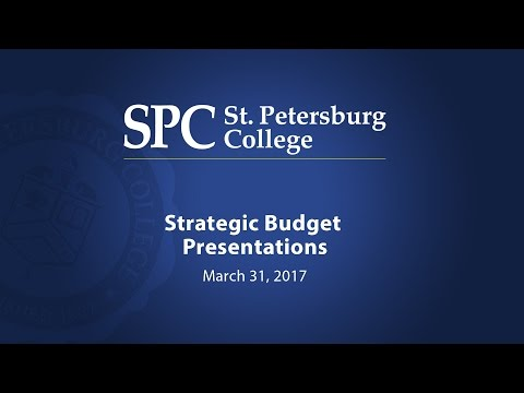 2017 Strategic Budget Presentations