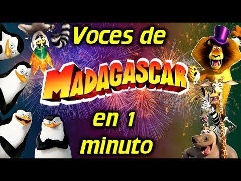 Voces de MADAGASCAR en 1 minuto| #14