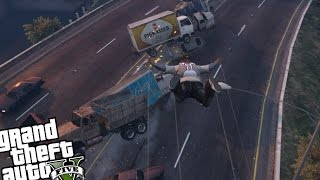 GTA 5 PC - Sonic Boom Mod (Super Speed Flying Destruction)