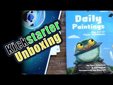 Unboxing of Kickstarter reward for Daily Paintings The Art of Piper Thibodeau