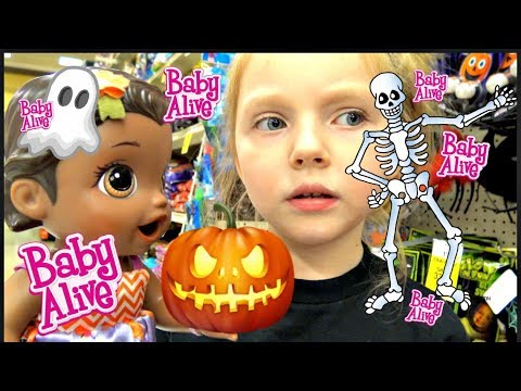 BABY ALIVE bakes a HALLOWEEN CAKE! The Lilly and Mommy Show! The TOYTASTIC Sisters. FUNNY SKIT