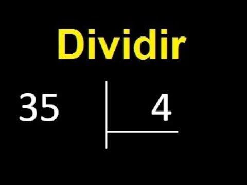 Dividir 35 Entre 4 , Division Inexacta Con Resultado Decimal  . Como Se Dividen 2 Numeros