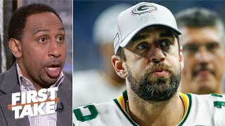 Aaron Rodgers' alleged 'buffoon' comments could end his career - Stephen A. | First Take