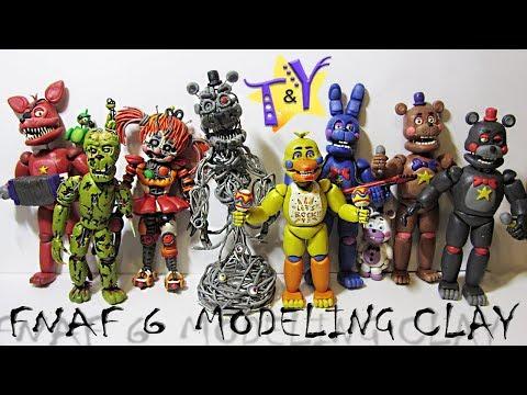 ФНАФ 6 аниматроники из пластилина Обзор Симулятор Пиццерия FNAF 6 From Modeling Clay