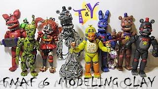 - ФНАФ 6 аниматроники из пластилина Обзор Симулятор Пиццерия FNAF 6 from modeling clay