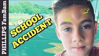 ACCIDENTAL SCHOOL INJURY | MASSIVE HEAD BUMP | PHILLIPS FamBam Vlogs