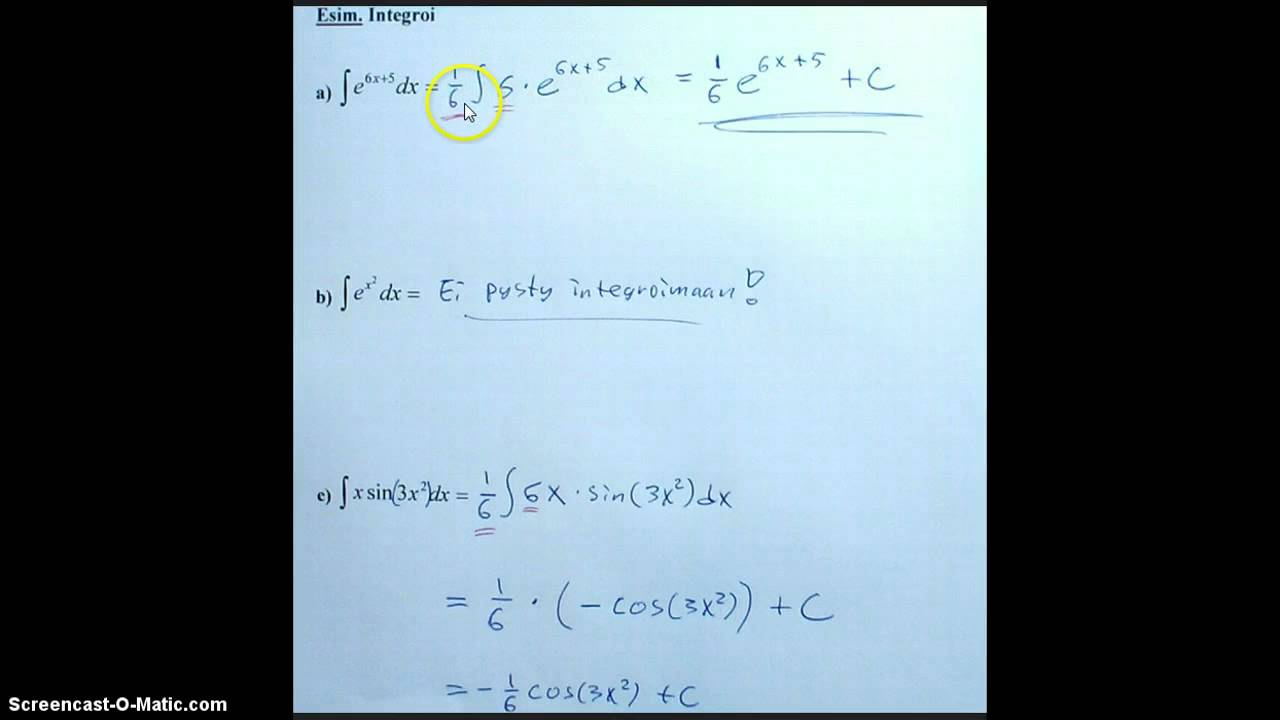 Yhdistetyn Funktion Integraali