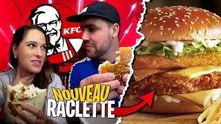 Je goûte les nouveautés à la RACLETTE de chez KFC avec Pidi !