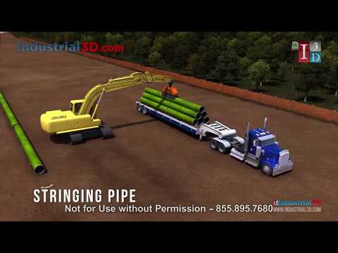 Modern Pipeline Construction Animation | Pipeline Animation | Downhole Drilling Equipment Animation