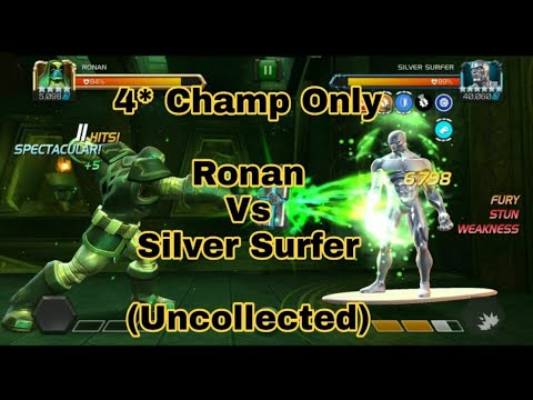 4* Ronan Vs Silver Surfer - The Trial Of Reed Richards || Uncollected (MCOC)