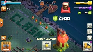 Removing GLOWY lantern|CLASH OF CLANS - lunar new year