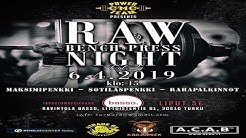 Turku RAW BenchPress Night Vol.2   (2019)  Group A