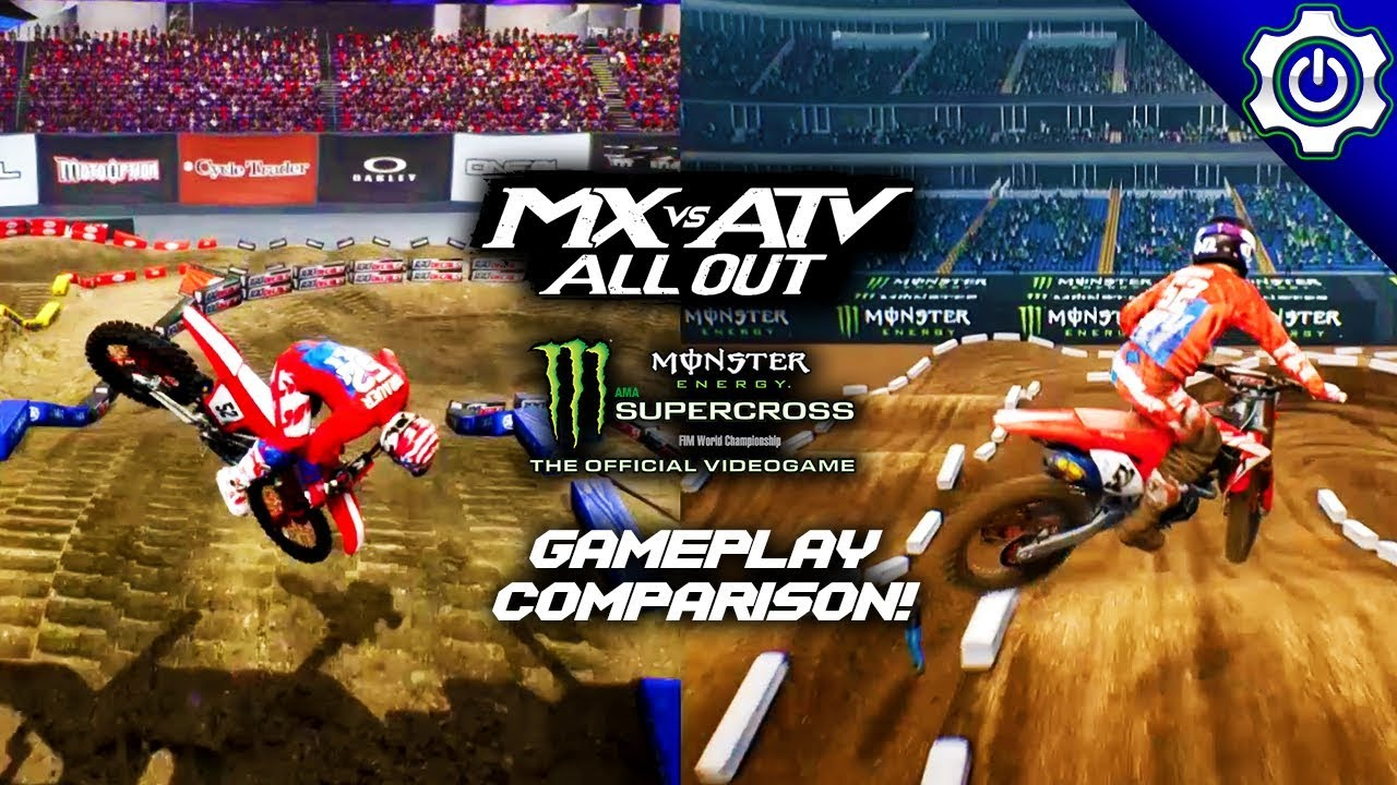 gameplay comparison mx vs atv all out monster energy. Black Bedroom Furniture Sets. Home Design Ideas