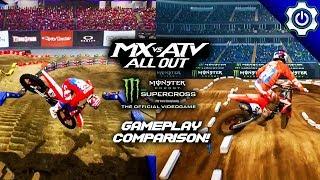 Gameplay Comparison - MX vs ATV All Out | Monster Energy Supercross
