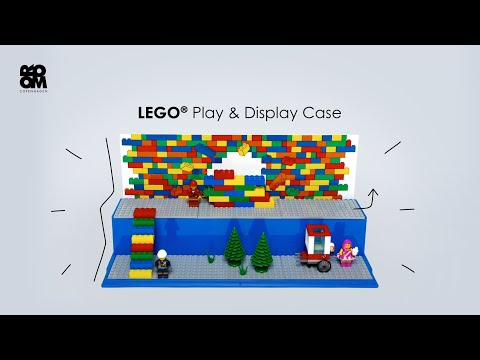 LEGO RED PLAY /& DISPLAY CASE BRAND NEW 2 LEVEL DISPLAY MINI FIGURES 4070
