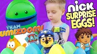 Team Umizoomi Surprise Eggs ft. Paw Patrol Toys Bubble Guppies Toys & Team Umizoomi Toys by KidCity