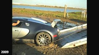 Bugatti Veyron accidents & damages (2005 - 2010)